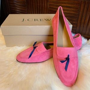 J. Crew Manhattan Pink Suede Leather Loafers